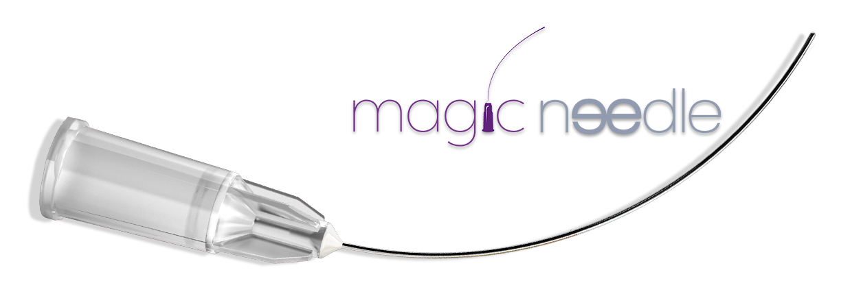 Magic needle avec logo pour entete de page magic needle